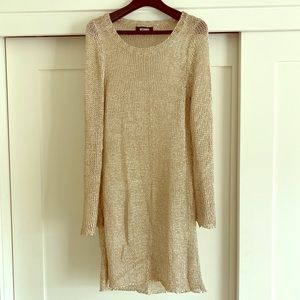 Gold Knit Cover Up/Dress